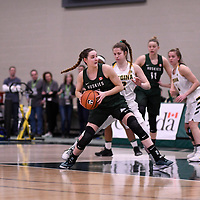 U Sports 2018 Women's National Basketball Championship Semi-Final on March  10 at the Centre for Kinesiology, Health and Sport Regina,Saskatchewan. Credit: Arthur Ward/Arthur Images