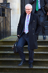 "© Licensed to London News Pictures. 13/02/2017. Aylesbury, UK.  STEVE ROBERTSON, chief executive officer of Thames Water, leaves Aylesbury Crown Court after attending a mitigation hearing. The utility company is due to be sentenced on 24 March after pleading guilty to a range of environmental offences dating back to 2013. In court the judge commented that ""sewage spilled out left, right and centre"" that had a ""terrible impact on the environment."" He also warned that the fine will be ""substantial"" and that ""the company must be punished and not the customers."" In total nearly half a billion liters of raw or partially treated sewage was discharged into the Thames from five sites in Buckinghamshire and Oxfordshire.  Photo credit: Cliff Hide/LNP"
