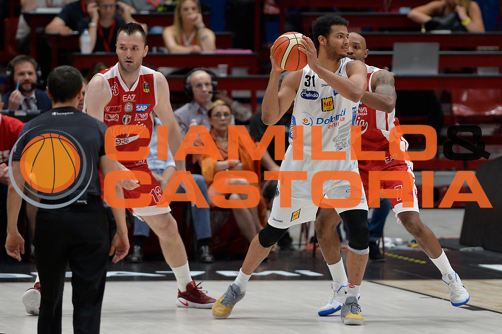 Shields Shavon<br /> Olimpia EA7 Emporio Armani Milano vs Dolomiti Energia Trentino<br /> Lega Basket Serie A 2016/2017<br /> PlayOff semifinale gara 2<br /> Milano 27/05/2017<br /> Foto Ciamillo-Castoria / I.Mancini