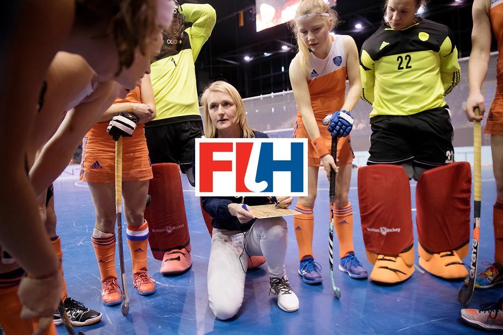 BERLIN - Indoor Hockey World Cup<br /> Women: Poland - Netherlands<br /> foto: Marieke Dijkstra.<br /> WORLDSPORTPICS COPYRIGHT FRANK UIJLENBROEK