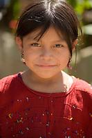 Girl in red, Chajul, Guatemala.
