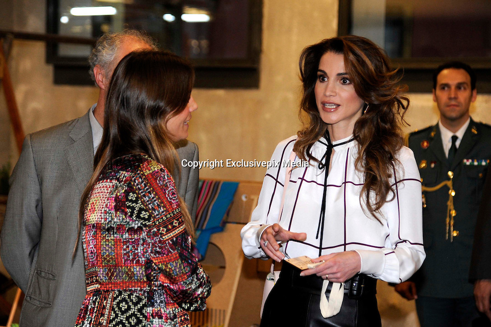 MADRID, SPAIN, 2015, NOVEMBER 19 <br /> <br /> Her Majesty Queen Rania Al Abdullah visiting the Media-lab Prado in Madrid, part of an official visit with His Majesty King Abdullah II to Spain. Her Majesty will tour the premises and meet with the Director of Media-Lab Prado, Mr. Marco Garcia, and senior staff members<br /> &copy;Exclusivepix Media