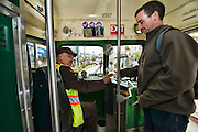 Images of passengers riding Muni Streetcar | March 19, 2013