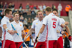 Barry Middleton & David Ames. England v Malaysia - 3rd/4th Playoff - Hockey World League Semi Final, Lee Valley Hockey and Tennis Centre, London, United Kingdom on 25 June 2017. Photo: Simon Parker