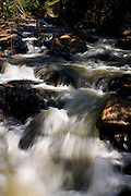 Acaiaca_MG, Brasil...Ribeirao com formacao de corredeiras e pequenas cachoeiras...A stream with the formation of small waterfalls...Foto: LEO DRUMOND / NITRO.
