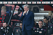 Crystal Palace manager Roy Hodgson during the Premier League match between Bournemouth and Crystal Palace at the Vitality Stadium, Bournemouth, England on 7 April 2018. Picture by Graham Hunt.
