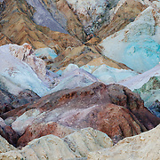 The varying color palette of earth and rocks in Death Valley National Park.