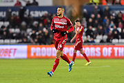 Rudy Gestede (14) of Middlesbrough during the EFL Sky Bet Championship match between Swansea City and Middlesbrough at the Liberty Stadium, Swansea, Wales on 14 December 2019.