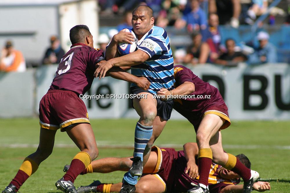 Fox Memorial Rugby League Final, Carlaw Park, Auckland, New Zeland. Hibiscus Coast vs Otahuhu. Junior Asiata of Otahuhu. 14 September 2002. Photo: PHOTOSPORT