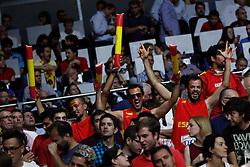 10.09.2014, Palacio de los deportes, Madrid, ESP, FIBA WM, Frankreich vs Spanien, Viertelfinale, im Bild Spain´s supporters // during FIBA Basketball World Cup Spain 2014 Quarter-Final match between France and Spain at the Palacio de los deportes in Madrid, Spain on 2014/09/10. EXPA Pictures © 2014, PhotoCredit: EXPA/ Alterphotos/ Victor Blanco<br /> <br /> *****ATTENTION - OUT of ESP, SUI*****