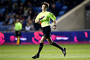 Referee Elizabeth Simms during the FA Women's Super League match between Manchester City Women and Everton Women at the Sport City Academy Stadium, Manchester, United Kingdom on 20 February 2019.