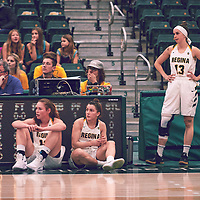 2nd year guard, Faith Reid (13) of the Regina Cougars during the Women's Basketball Home Game on Fri Nov 30 at Centre for Kinesiology,Health and Sport. Credit: Arthur Ward/Arthur Images