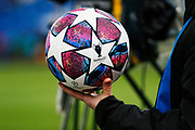 Champions League match ball ahead of the Champions League match between Chelsea and Bayern Munich at Stamford Bridge, London, England on 25 February 2020.