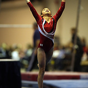 A young gymnasts performs her floor routine during the 21st American Invitational 2014 competition at the XL Centre. Hartford, Connecticut, USA. USA. 31st January 2014. Photo Tim Clayton