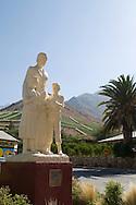 Montegrande, in the southeast of Vicuña, statue of Gabriella Mistral (real name Lucila Godoy Alcayaga), Chile