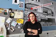Dr Lisa McKenzie, Research Fellow at London School of Economics, in her office Class War