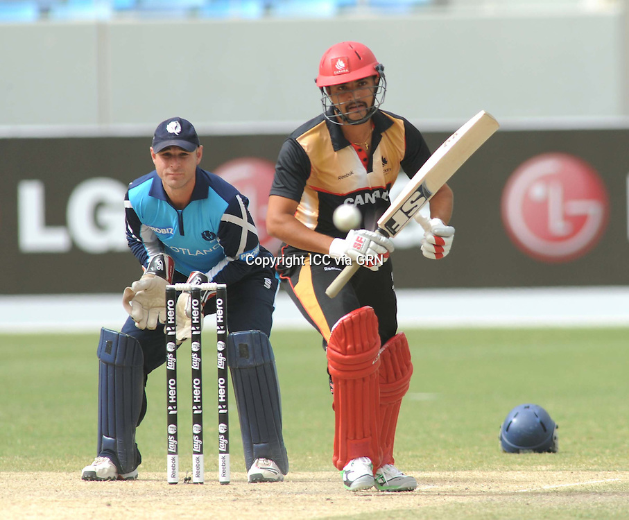 ICC World Twenty20 Qualifier UAE 2012.Scotland take on Canada in the 5th place play off at the Dubai International Cricket Stadium, Dubai,.Pic shows.