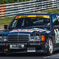 #475, Mercedes-Benz 190E 2.3, 16V , drivers: Roland Hoelscher, Roland Schaefer, Class 55, up to 2500cc, Group A+B, Division 11, on 21/06/2019 at the Nürburgring  24 Hours 2019