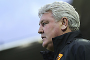 Hull City manager Steve Bruce during the Sky Bet Championship match between Derby County and Hull City at the iPro Stadium, Derby, England on 5 April 2016. Photo by Aaron  Lupton.