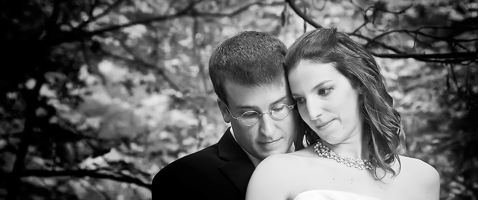 The newlyweds enjoy a quiet moment during their post-wedding portrait session.
