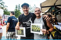 Uros Kralj and Jure Kosir at 10th Nocna 10ka 2016, traditional run around Bled's lake, on July 09, 2016 in Bled,  Slovenia. Photo by Grega Valancic / Sportida