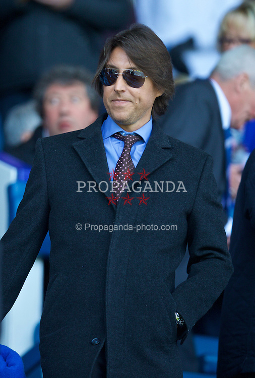 LIVERPOOL, ENGLAND - Sunday, April 26, 2015: Amanda Holden's husband Chris Hughes before the Premier League match against Manchester United at Goodison Park. (Pic by David Rawcliffe/Propaganda)
