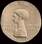 Antonio Pisanello, Portrait of leonello d'este