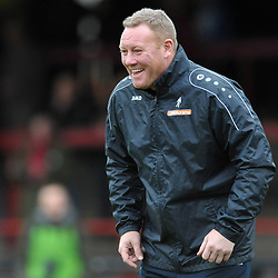 TELFORD COPYRIGHT MIKE SHERIDAN York boss Steve Watson during the Vanarama Conference North fixture between AFC Telford United and York City at Bootham Crescent on Saturday, January 11, 2020.<br /> <br /> Picture credit: Mike Sheridan/Ultrapress<br /> <br /> MS201920-040