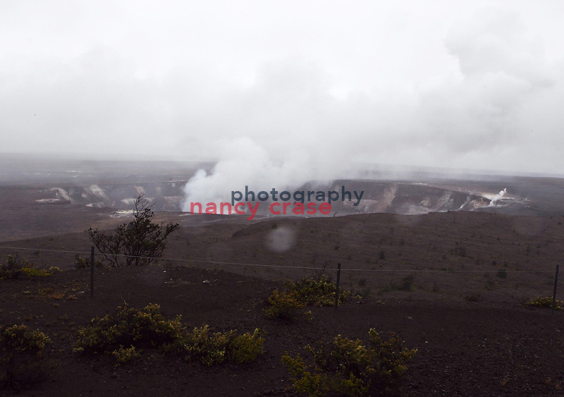 Eight people set out from Hilo, Hawaii on a Wilderness Inquiry hiking adventure on March 24, 2012, around the entire island.  From volcanic fields to rain forests, they saw the island as few tourists do...Kilauea caldera