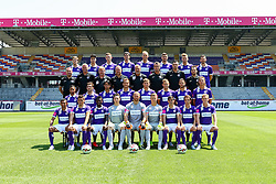01.07.2015, Generali Arena, Wien, AUT, 1. FBL, Mannschaftsfototermin FK Austria Wien, im Bild 4 Reihe: Philipp Zulechner, Tarkan Serbest, Marco Stark, Raphael Holzhauser, Patrizio Stronati, Alexander Gruenwald, Alexander Gorgon, 3 Reihe: Masseur Christian Hold, Tormann Trainer Franz Gruber, Co-Trainer Andreas Ogris, Co-Trainer Sebastian Hahn, Trainer Thorsten Fink, Fitness Trainer Nikola Vidovic, Hermann Kruckenfellner, Dominik Jessenk, 2 Reihe: Ismael Tajouri, Christoph Martschinko, Roi Kehat, Mario Leitgeb, Jens Larsen Stryger, Marco Meilinger, Richard Windbichler, Lukas Rotpuller, 1 Reihe: Bernardo Sales Ronivaldo, Olarenwaju Kayode, Matijas Schreiber, Robert Almer, Patrick Pentz, David de Paula, Fabian Koch und Thomas Salamon // during the official Team and Portrait Photoshoot of Austrian Football Team FK Austria Wien at the Generali Arena, Wien, Austria on 2015/07/01. EXPA Pictures © 2015, PhotoCredit: EXPA/ Sebastian Pucher