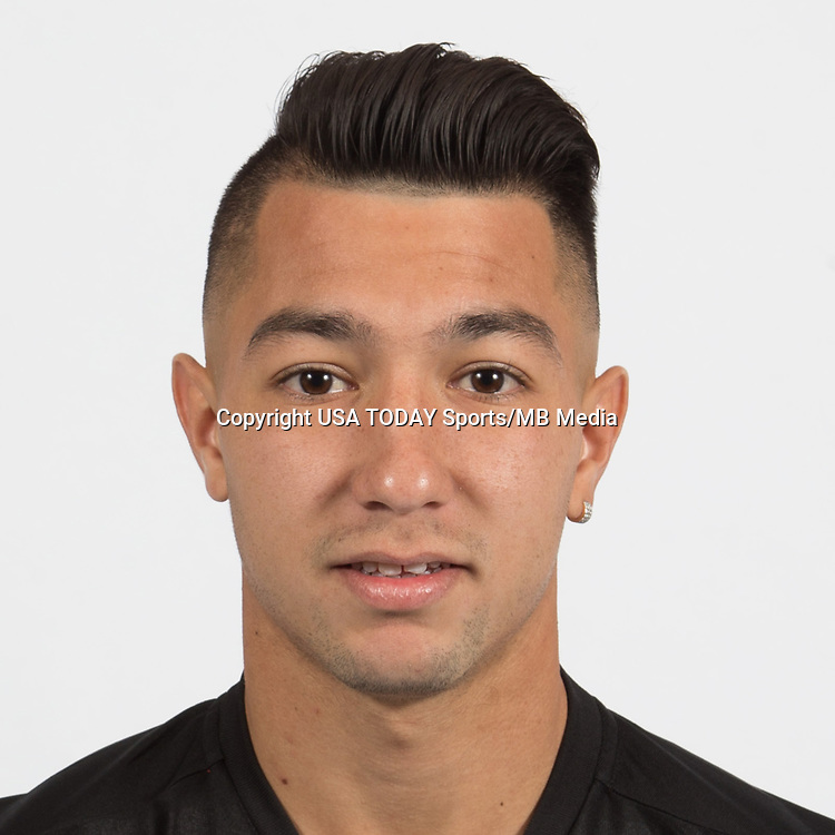 Feb 25, 2017; USA; DC United player Luciano Acosta poses for a photo. Mandatory Credit: USA TODAY Sports