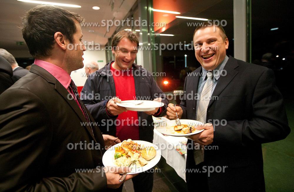 Peter Poles, Primoz Kozmus and Igor Primc during the Slovenia's Athlete of the year award ceremony by Slovenian Athletics Federation AZS, on November 12, 2008 in Hotel Mons, Ljubljana, Slovenia.(Photo By Vid Ponikvar / Sportida.com) , on November 12, 2010.
