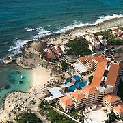 Aerial shot of Puerto Aventuras. Quintana Roo, Mexico.