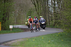 Roxanne Knetemann (NED) of Team NL leads a small break in the first lap of Stage 3 of the Healthy Ageing Tour - a 154.4 km road race, between  Musselkanaal and Stadskanaal on April 7, 2017, in Groeningen, Netherlands.