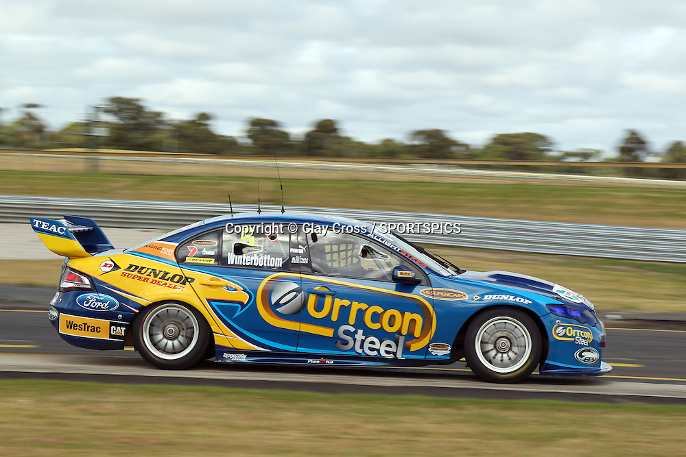 Mark Winterbottom(Ford Performance Racing). 2012 V8 Supercar Championship Series Test Day. Sandown International Raceway, Melbourne Victoria on Saturday 11 February 2012. Photo : Clay Cross / photosport.co.nz