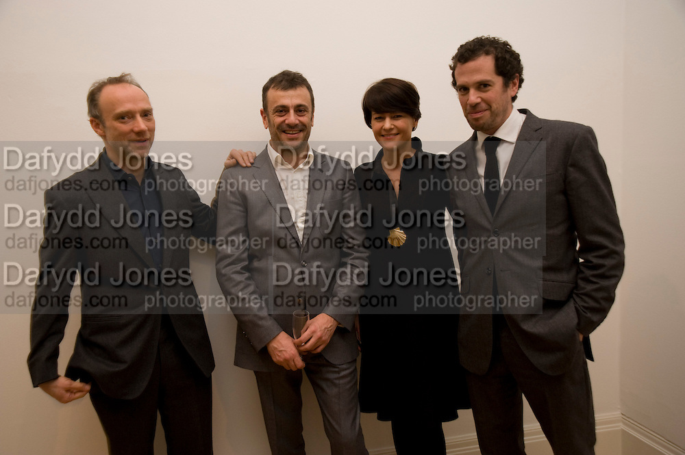 THOMAS DANE; KUTLUK ATAMAN; MARTINE D'ANGLEJAN CHATILLON; FRANCOIS CHANAH.  fff. Video instalation by Kutluk Ataman. Thomas Dane Gallery, Duke st. Afterwards at Ivor Braka's house. Chelsea. London. 12 March 2009<br /> THOMAS DANE; KUTLUK ATAMAN; MARTINE D'ANGLEJAN CHATILLON; FRANCOIS CHANAH.  fff. Video instalation by Kutluk Ataman. Thomas Dane Gallery, Duke st. Afterwards at Ivor Braka's house. Chelsea. London. 12 March 2009 *** Local Caption *** -DO NOT ARCHIVE -Copyright Photograph by Dafydd Jones. 248 Clapham Rd. London SW9 0PZ. Tel 0207 820 0771. www.dafjones.com