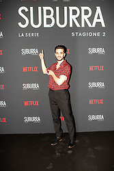 Giacomo Ferrara at the Red Carpet of the series Suburra 2 at Circolo Degli Illuminati in Rome, Italy, 20 February 2019 .Dress: Fendi  (Credit Image: © Lucia Casone/Soevermedia via ZUMA Press)