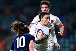 Kelly Smith of England Women takes on Helen Nelson of Scotland Women - Mandatory by-line: Robbie Stephenson/JMP - 16/03/2019 - RUGBY - Twickenham Stadium - London, England - England Women v Scotland Women - Women's Six Nations