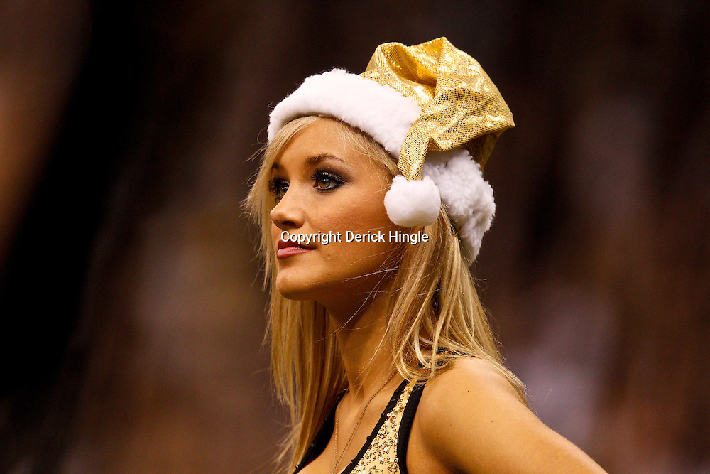 December 12, 2010; New Orleans, LA, USA; New Orleans Saints Saintsations cheerleaders perform during the second half at the Louisiana Superdome. Mandatory Credit: Derick E. Hingle-US PRESSWIRE