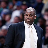 03 April 2018: Indiana Pacers head coach Nate McMillan is seen during the Denver Nuggets 107-104 victory over the Indiana Pacers, at the Pepsi Center, Denver, Colorado, USA.