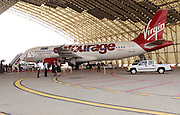 Inside Hanger 12 as Virgin America launches JFK-Las Vegas Service with 'Entourage' Airbus A320 at JFK Airport in New York City in New York City, USA on September 4, 2008.