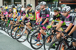 Luka Erzen of KK Sava Kranj, Matej Mercun of Radenska As, Miha Zupan of KK Sava Kranj at Night Criterium - Kranj 2016, on July 30, 2016 in Kranj, Slovenia. Photo by Vid Ponikvar / Sportida