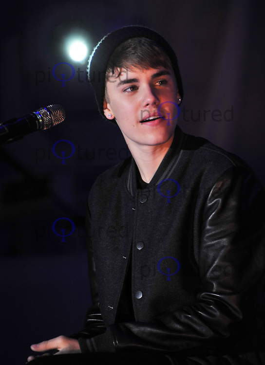 Justin Bieber switching-on Stratford City Christmas Lights - Live on stage, UK, 07 November 2011:  Contact: Rich@Piqtured.com +44(0)7941 079620 (Picture by Alan Roxborough)