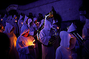 Faithful participate in the Soul's Procession during Silent Saturday celebrations in Mariana in the Brazilian state of Minas Gerais, Saturday, March 30, 2013. Brazil is the world's biggest Catholic country and expects the visit of Pope Francis in the next July.(Dado Galdieri)