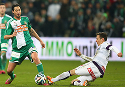 09.02.2014, Gerhard Hanappi Stadion, Wien, AUT, 1. FBL, SK Rapid Wien vs FK Austria Wien, 22. Runde, im Bild Branko Boskovic, (SK Rapid Wien, #32) und Florian Mader, (FK Austria Wien, #17) // during a Austrian Bundesliga Football 22nd round match between SK Rapid Vienna and FK Austria Vienna at the Gerhard Hanappi Stadion, Wien, Austria on 2014/02/09. EXPA Pictures © 2014, PhotoCredit: EXPA/ Thomas Haumer