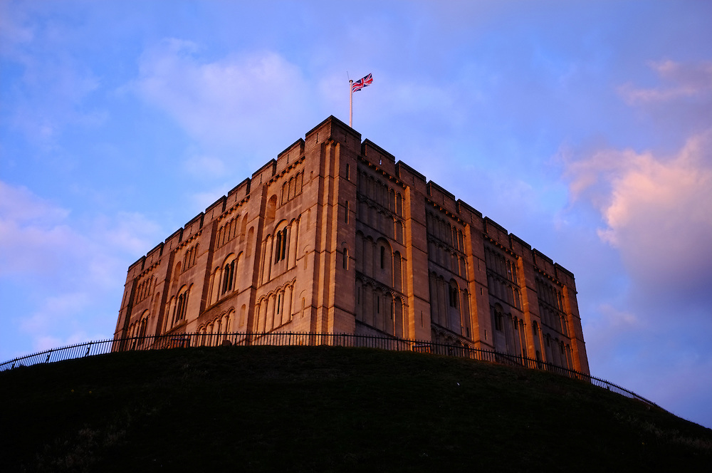 NORWICH, UNITED KINGDOM, 13-03-28   - The Norwich Castle, a medieval fort in Norwich which is now a museum. Photo by Daniel Hayduk