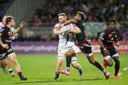 Delon Armitage to LOU during the European Rugby Challenge Cup, Pool 2, between Lyon OU and Sale Sharks on October 20, 2017 at Matmut stadium in Lyon, France - Photo Romain Biard / Isports / ProSportsImages / DPPI