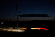 Green Valley, April 6 2012 - On the road at dusk.