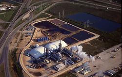 Stock photo of the aerial view of a chemical plant