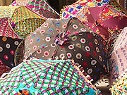 Embroidered umbrellas (used as sunshades), Amber, Rajasthan.
